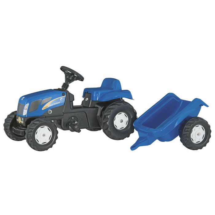 Rolly Toys RollyKid New Holland met aanhanger